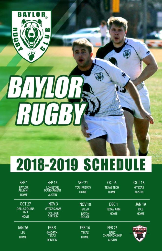 Baylor Rugby Releases 2018-19 Schedule